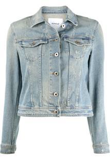 Dondup Jaqueta Jeans Com Abotoamento - Azul