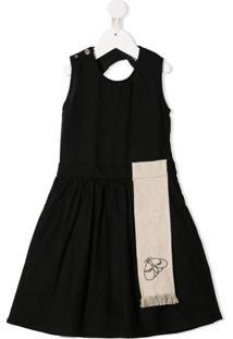 Infantium Victoria Vestido Com Recorte Bordado - Neutro