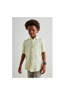 Camisa Mini Pf Mc Linho Verao Reserva Mini Amarelo