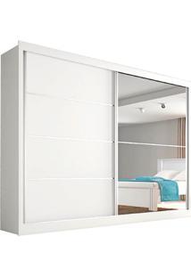 Guarda Roupa Casal Flex 2 Portas Com Espelho Verona Plus– Made Marcs - Branco Acetinado