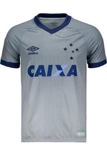 Camisa Umbro Cruzeiro Oficial 3 2018 Nº10 Cinza