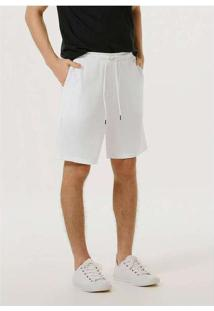 Bermuda Masculina Em Moletom Texturizado Branco