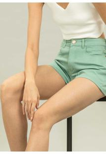 Shorts Califórnia Jeans Verde New Camping - Lez A Lez
