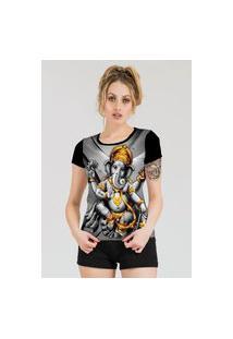 Camiseta Stompy Estampada Feminina Modelo 48 Preta