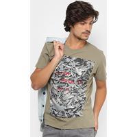 ee605a9dcb Camiseta Reserva Gola Careca Quem Procura Acha Masculina - Masculino-Verde  Militar