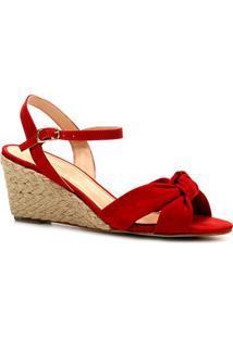 d1f93d8f1b Sandália Anabela Shoestock Nobuck Nó Feminina - Feminino