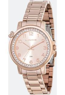 Kit Relógio Feminino Lince Lrr4570L-Ki17R2Rx Analógico 5Atm + Conjunto Semijóia
