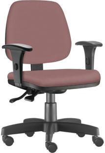 Cadeira Giratória Executiva Lyam Decor Job Suede Rosê
