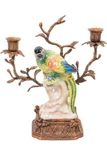Castiçal Decorativo De Porcelana Les Fleurs