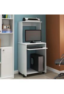 Mesa Para Computador Siena Móveis Branco Tx/Branco Tx