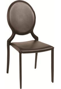 Cadeira Amanda Medalhão Marrom Rivatti