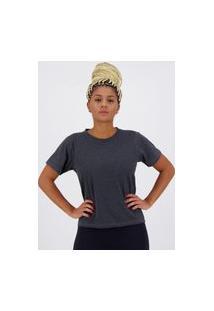 Camiseta Olympikus Basic Style Feminina Grafite Mescla