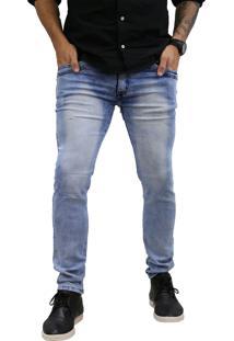Calça Jeans Elite Lux Skinny Azul Claro Estonado