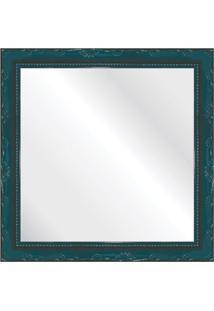 Espelho Brilho Rococo Azul 31X31Cm