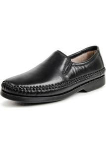 Sapato Social Calprado Couro Confort Masculino - Masculino