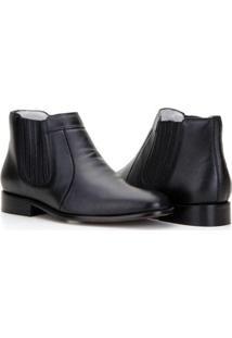 Bota Capelli Boots Com Fechamento Elástico Masculina - Masculino-Preto