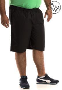 Bermuda Konciny Sarja Plus Size Preto - Preto - Masculino - Dafiti