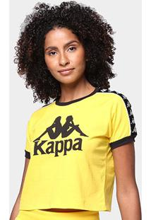 Camiseta Kappa Cropped Piaza Feminina - Feminino