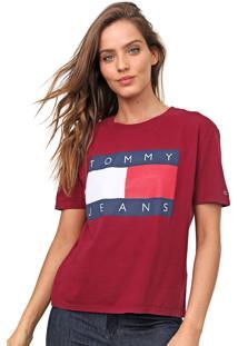 Camiseta Tommy Jeans Logo Vinho