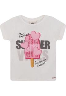 Blusa Infantil Animê Ice Cream Feminina - Feminino