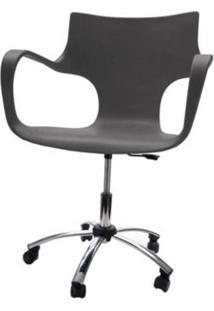 Cadeira Jim Base Giratoria Cromada Cor Cinza - 22599 Sun House