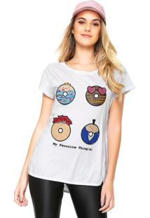 Camiseta My Favorite Thing(S) Recortes Laterais Branca