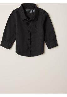 Camisa Reserva Mini Bb Tinturada Preto - Kanui
