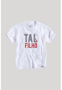Camiseta Infantil Tal Filho Reserva Mini Masculina - Masculino-Branco
