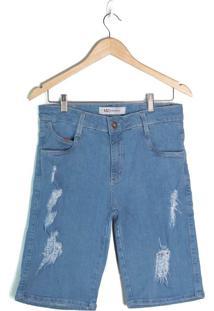 Bermuda Jeans Masculina Max Denim Azul Claro - 38