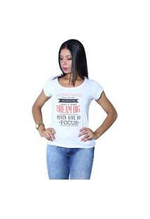 Camiseta Heide Ribeiro Work Hard Give Your Best Branco