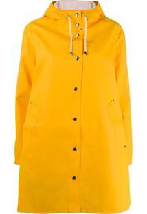 Stutterheim Casaco Impermeável Com Capuz - Amarelo