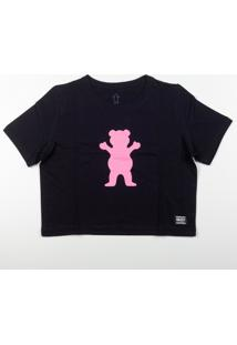 Camiseta Grizzly Og Bear Cropped Preto