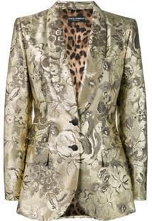 Dolce & Gabbana Jaqueta Slim - Dourado