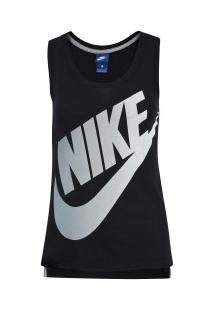 7b5dab52c2450 Camiseta Regata Nike Sportswear Logo Futura - Feminina - Preto