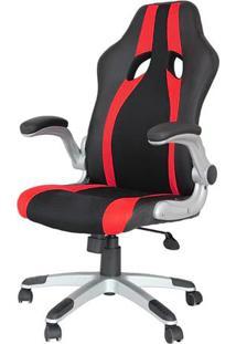 Cadeira Office Speed Preta E Vermelho Com Base Em Polipropileno - 45068 - Sun House