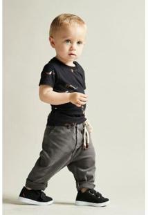 Calca Bebê Reserva Mini Estique-Se Alfaiate Masculina - Masculino-Preto