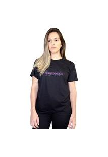 Camiseta Feminina Perfeitamente Imperfeita Preta