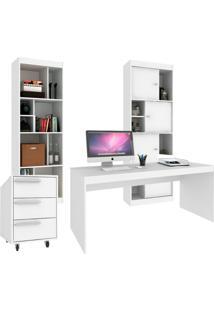 Conjunto De Escritório Home Office Branco
