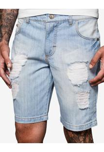 Bermuda Jeans Destroyed 400034