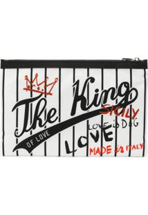 Dolce & Gabbana Clutch 'The King Of Love' Estampada - Branco