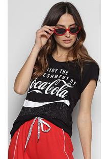 Camiseta Coca-Cola Enjoy Hotfix Feminina - Feminino