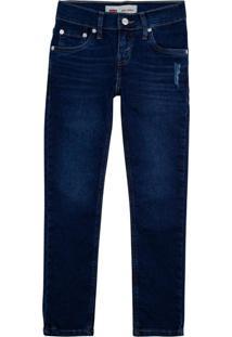 Calça Jeans Levis 510 Skinny Infantil - 30003 Azul