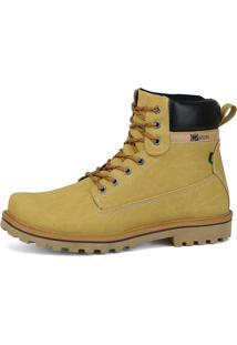 Bota Cr Shoes Casual Sapatofran Com Amarras Em Cadarço Amarelo