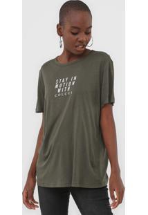 Camiseta Colcci Motion Verde