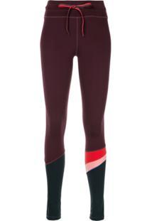 The Upside Skinny-Fit Stripe Leggings - Roxo