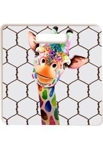 Tábua De Corte Girafa Divertida Quadrada Quadrado 30 X 30 Cm Vickttoria Vick Plus Size