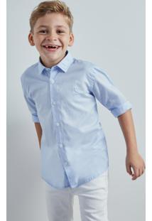 Camisa Mini Pf Tec Lago Reserva Mini Azul