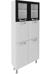 Paneleiro Premium 6 Pt Branco E Preto