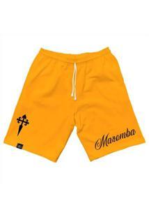 Bermuda Maromba Fight Wear Moletom Dagger Com Bolsos Masculina - Masculino-Amarelo