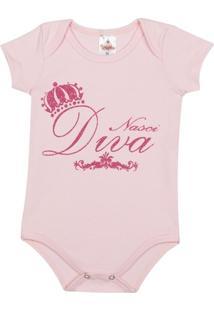 Body Bebê Algodão Mini Shake Nasci Diva Feminino - Feminino